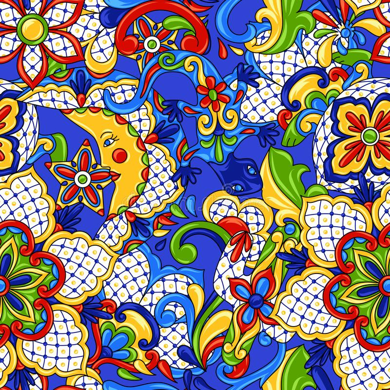 Teste padrão sem emenda mexicano ilustração stock