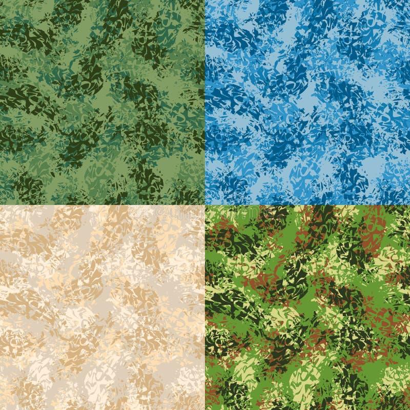 Teste padrão sem emenda militar Ajuste a textura do exército Ornamento protetor ilustração stock