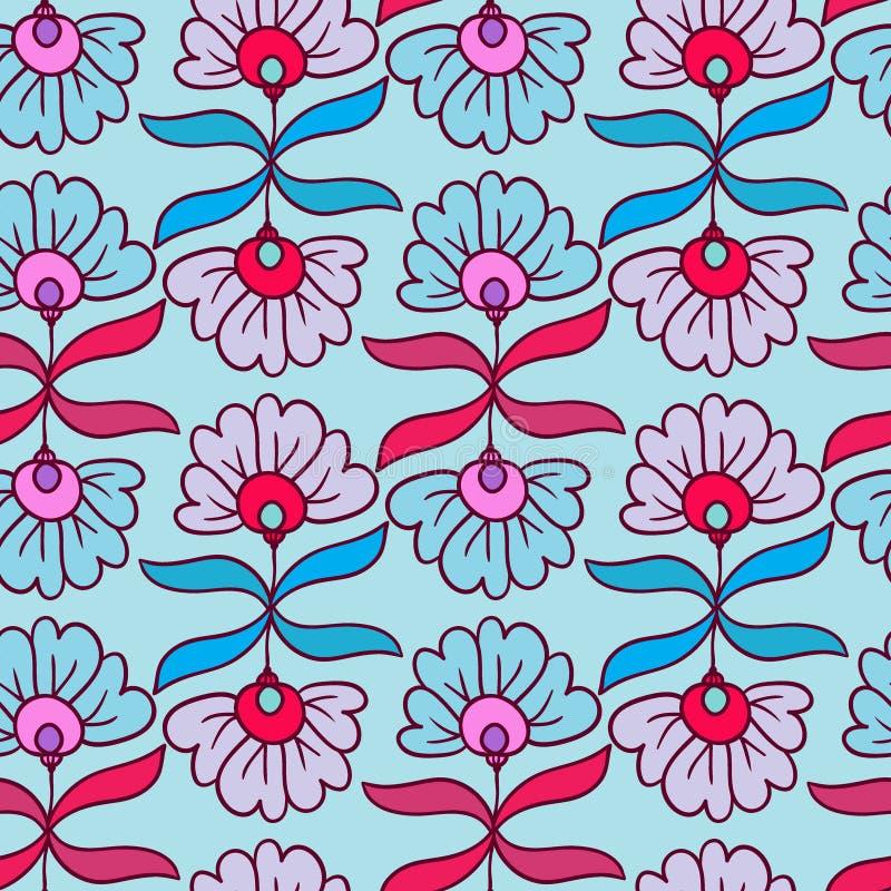 Teste padrão sem emenda moderno Cópia das flores Textura floral do vetor Textura decorativa Ornamento da natureza de matéria têxt ilustração royalty free