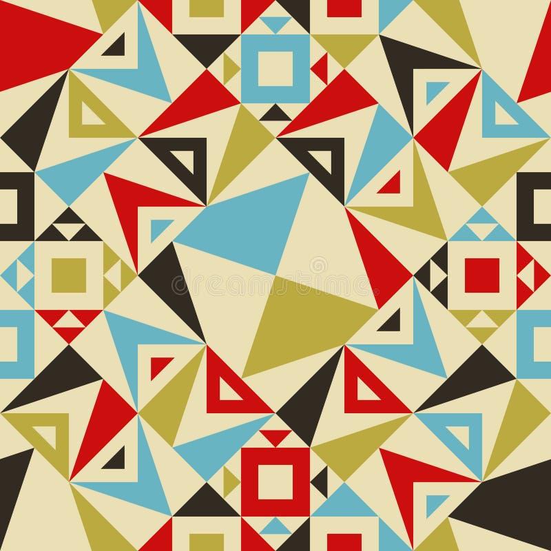 Teste padrão sem emenda moderno do triângulo para o projeto de matéria têxtil ilustração do vetor