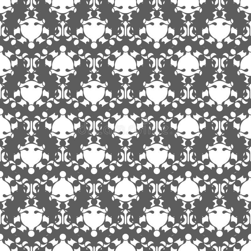 Teste padrão sem emenda monocromático clássico abstrato ilustração royalty free