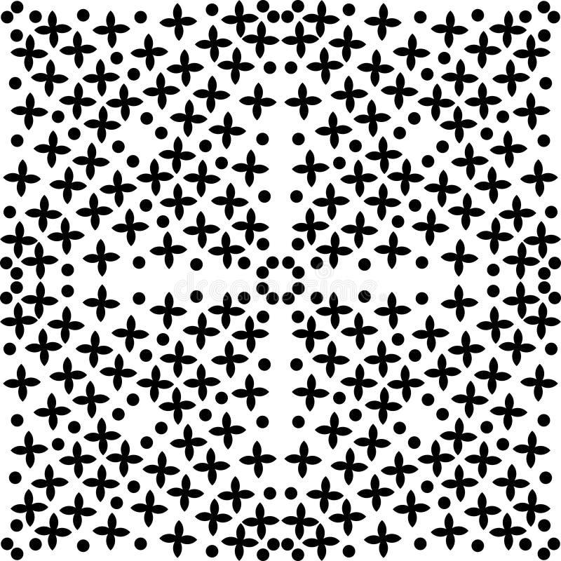 Teste padrão sem emenda monocromático sem emenda, textura geométrica do vetor, lisa ilustração stock