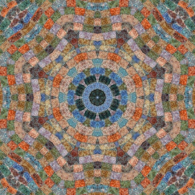 Teste padrão sem emenda, mosaico da tela ilustração stock
