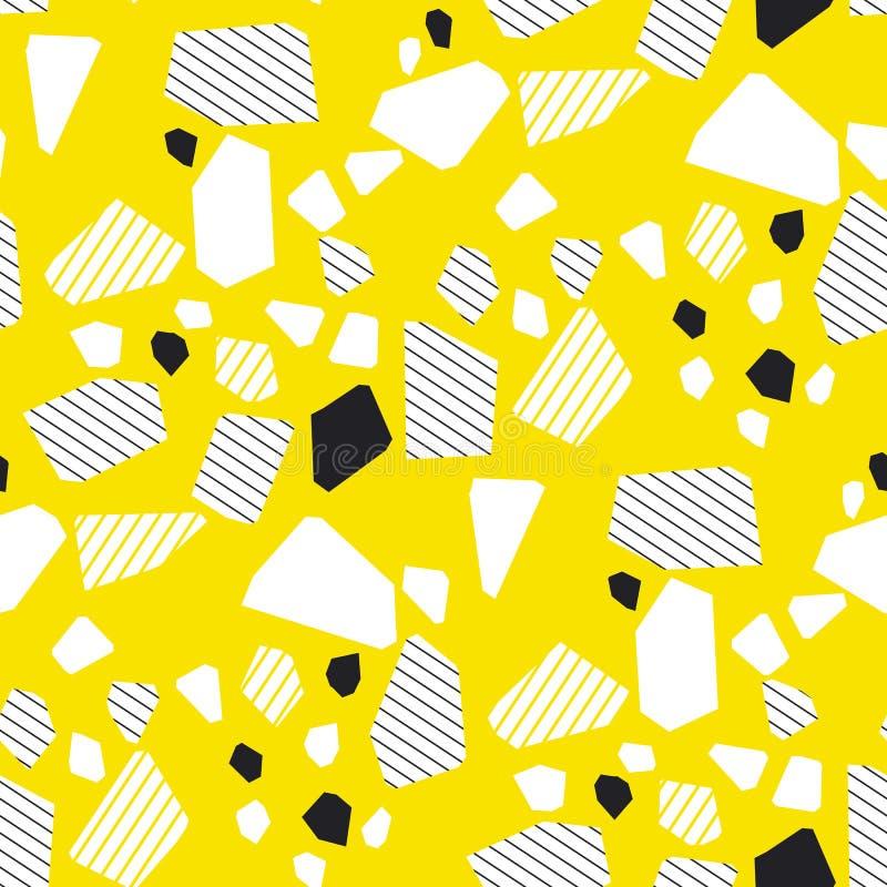 Teste padrão sem emenda multicolorido das partículas geométricas ilustração stock