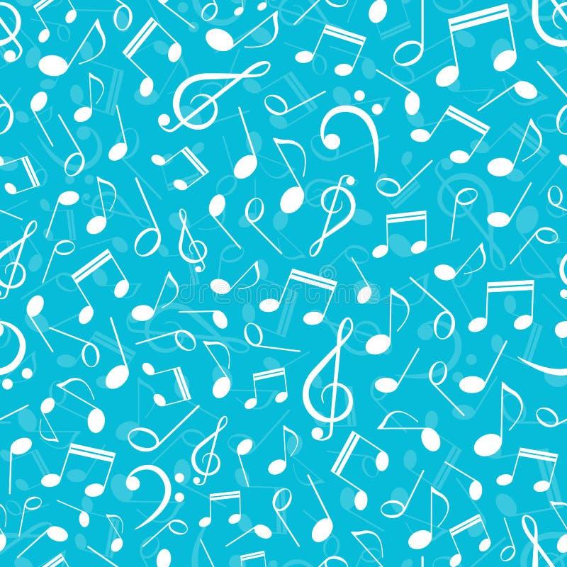 Teste padrão sem emenda musical com notas ilustração royalty free