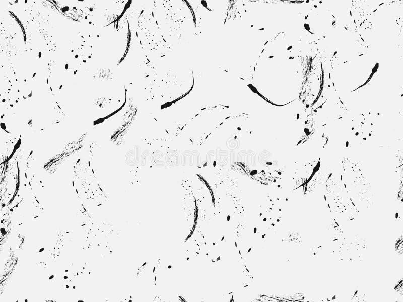 Teste padrão sem emenda no estilo do grunge com coágulos e cursos Para o papel de parede, roupa de cama, telhas, telas, fundos Ve ilustração stock
