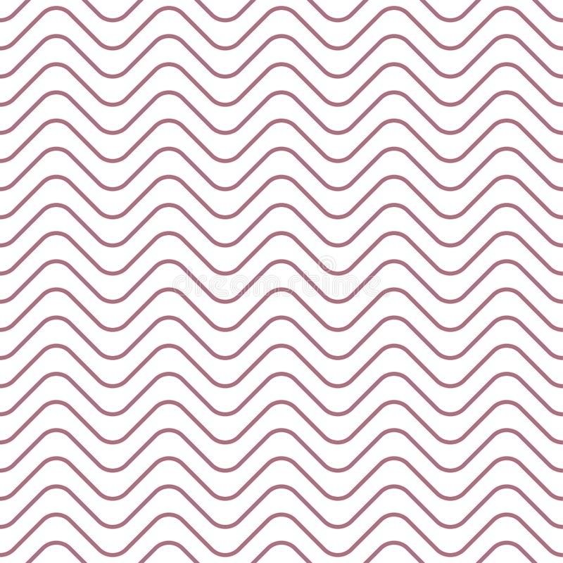 Teste padrão sem emenda onda Cópia geométrica do projeto da forma Papel de parede monocromático ilustração stock