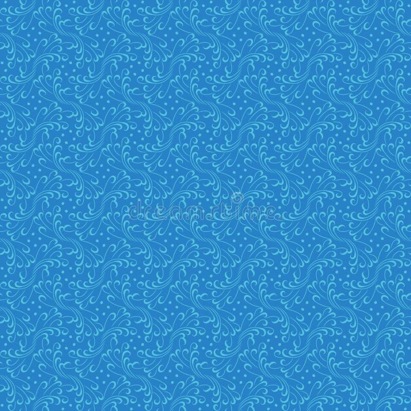 Teste padrão sem emenda orgânico do vetor do sumário em cores azuis ilustração stock