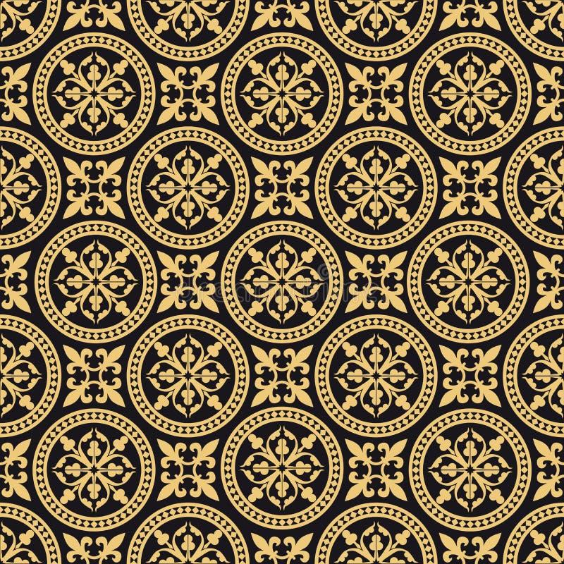 Teste padrão sem emenda oriental antigo ilustração royalty free