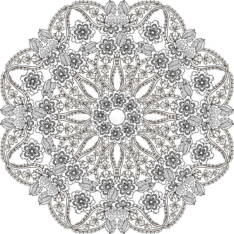 Teste padrão sem emenda oriental de paisley nas cores pastel Contexto decorativo do ornamento para a tela, matéria têxtil, papel  ilustração royalty free
