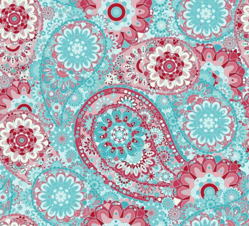 Teste padrão sem emenda oriental tradicional de paisley O vintage floresce o fundo Contexto decorativo do ornamento para a tela,  ilustração do vetor