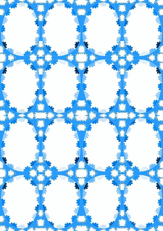 Teste padrão sem emenda oval dos ovos azuis ilustração do vetor