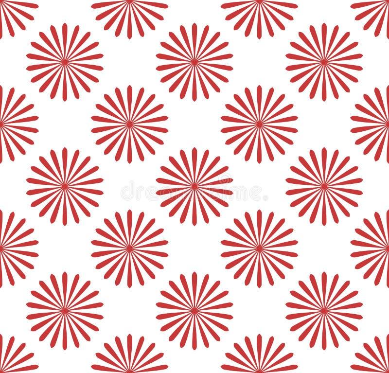 Teste padrão sem emenda, papel de parede com motivos da flor Monochrom simples ilustração stock