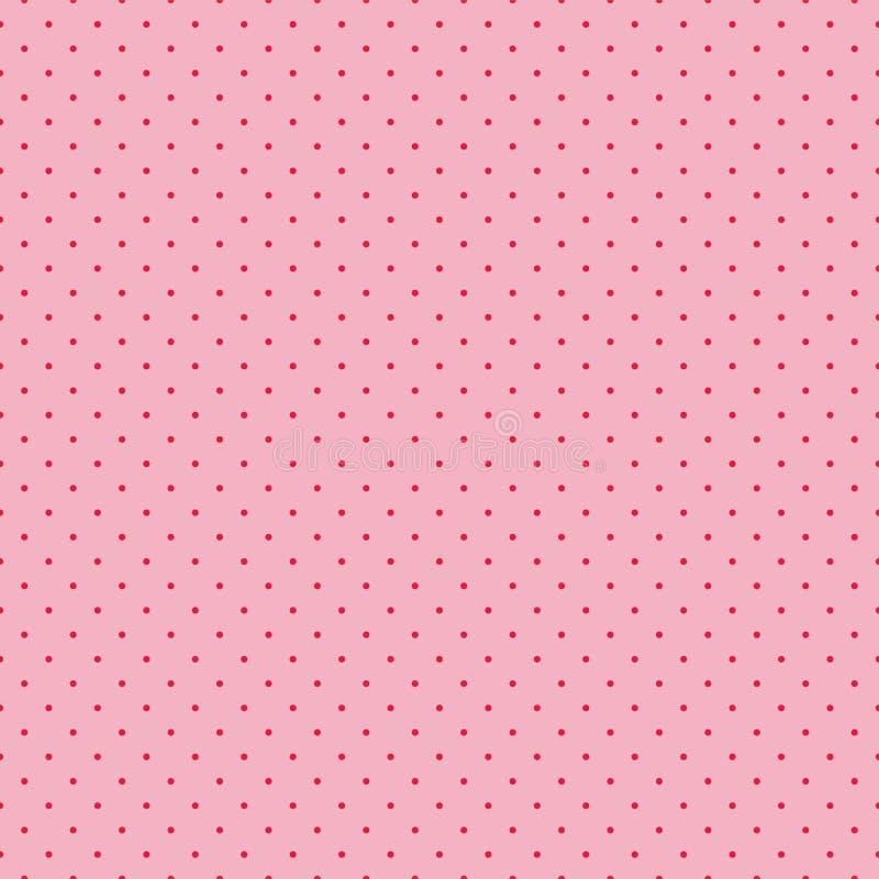 Teste padrão sem emenda para as matérias têxteis e o papel de parede - às bolinhas pequenos em um fundo cor-de-rosa ilustração royalty free