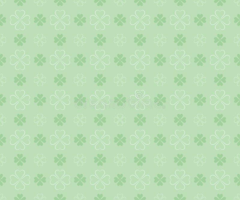 Teste padrão sem emenda para o dia de St Patrick ilustração stock