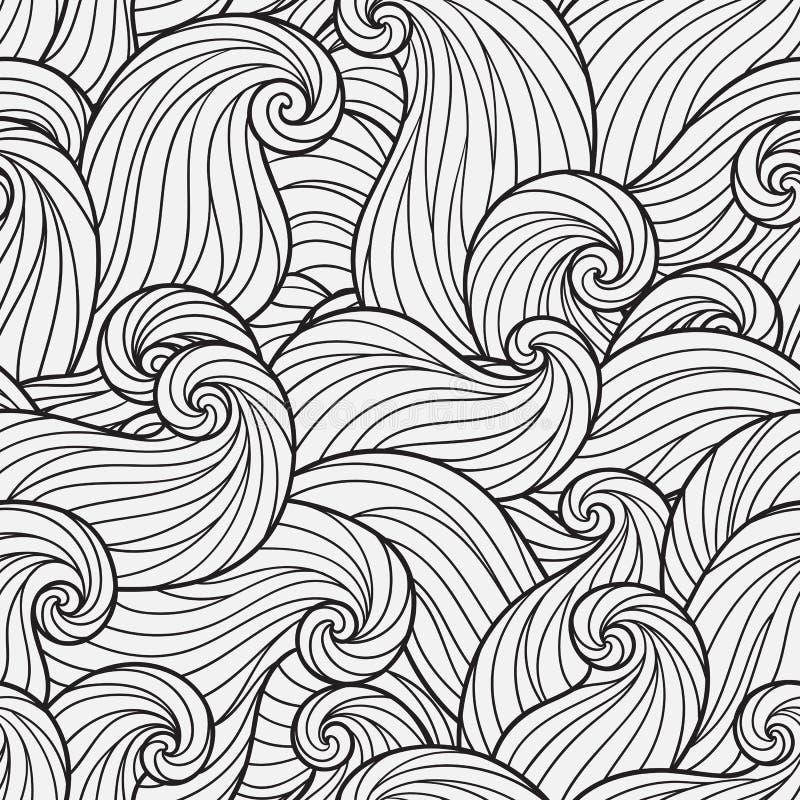 Teste padrão sem emenda para o livro para colorir ilustração do vetor