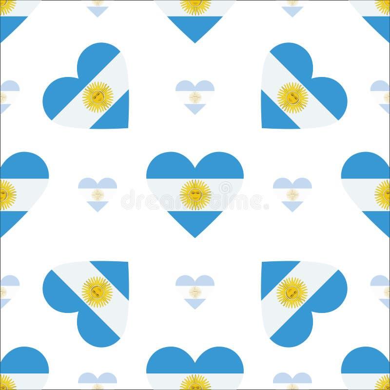 Teste padrão sem emenda patriótico da bandeira de Argentina ilustração do vetor