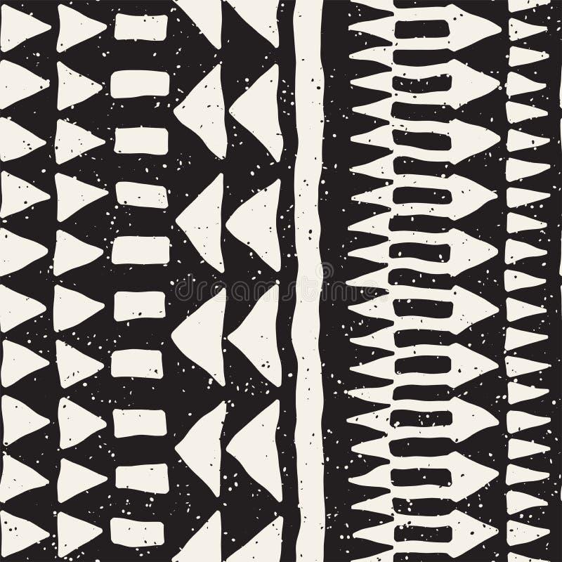 Teste padrão sem emenda pintado tirado mão Fundo tribal do projeto do vetor Motivo étnico Linhas étnicas geométricas da listra ilustração royalty free