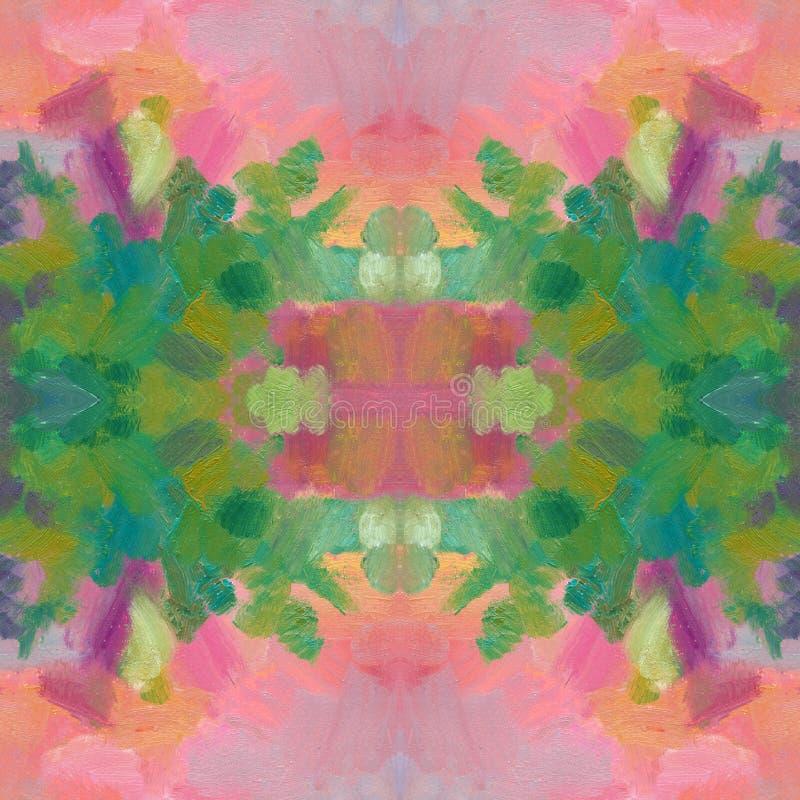 Teste padrão sem emenda Pintura acrílica tirada mão Fundo da arte abstrata Pintura acrílica na lona Textura da cor ilustração do vetor