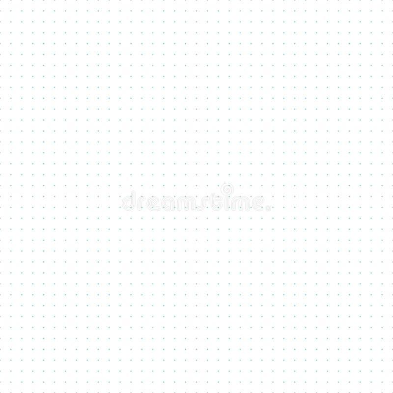Teste padrão sem emenda pontilhado do papel de gráfico da grade ilustração stock