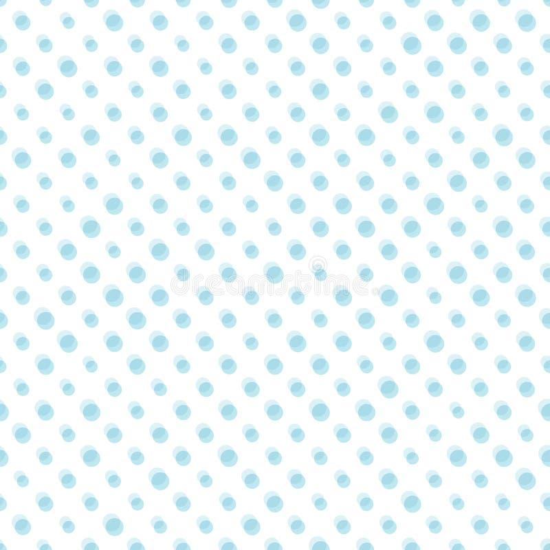 Teste padrão sem emenda pontilhado Ilustração do vetor Projeto geométrico Textura abstrata à moda moderna Molde para a cópia, mat ilustração do vetor