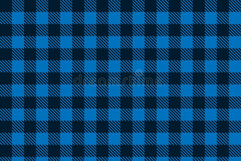 Teste padrão sem emenda preto azul da manta do lenhador ilustração royalty free