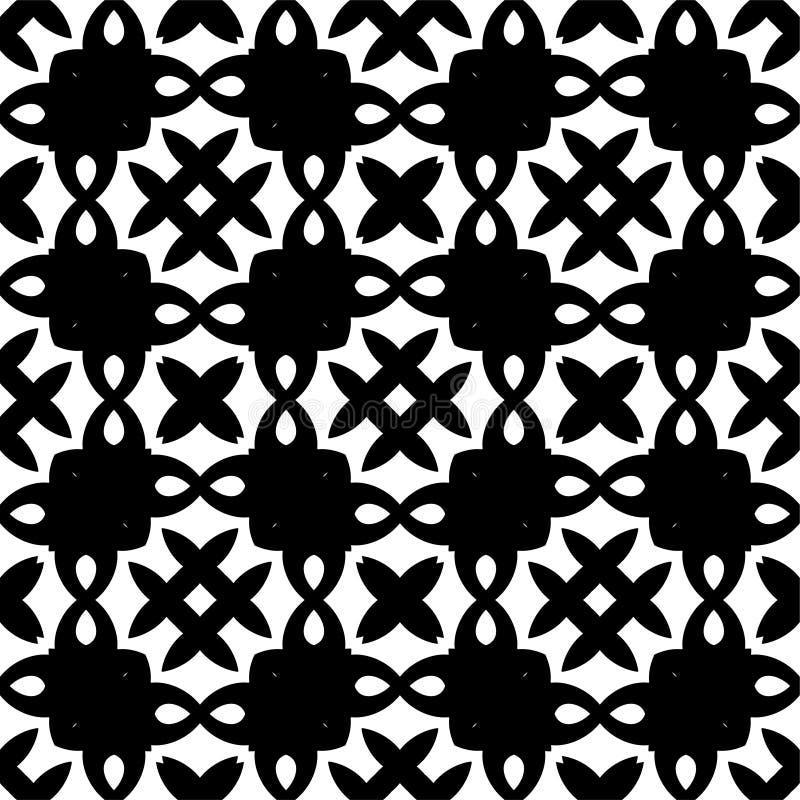 Teste padrão sem emenda preto e branco ilustração do vetor