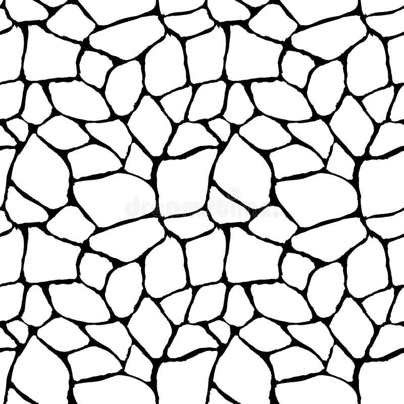 Teste padrão sem emenda preto e branco geométrico abstrato ilustração stock