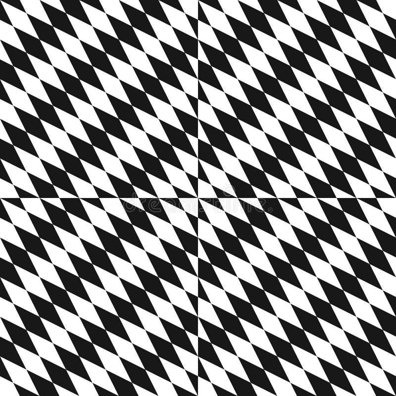 Teste padrão sem emenda preto e branco Textura ótica da arte com rombos diagonais ilustração royalty free