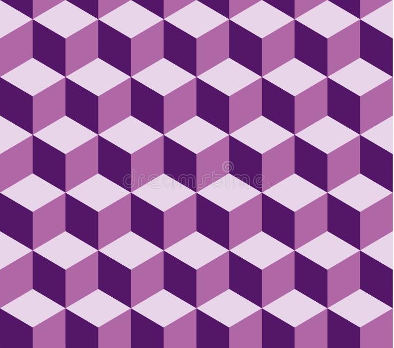 Teste padrão sem emenda quadrado violeta do vetor Teste padrão incluído na amostra de folha ilustração royalty free