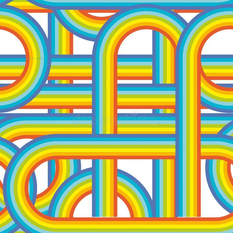 Teste padrão sem emenda Repetindo a textura do vetor em cores do nuance Fundo violeta azul alaranjado vermelho do arco-íris do ve ilustração do vetor
