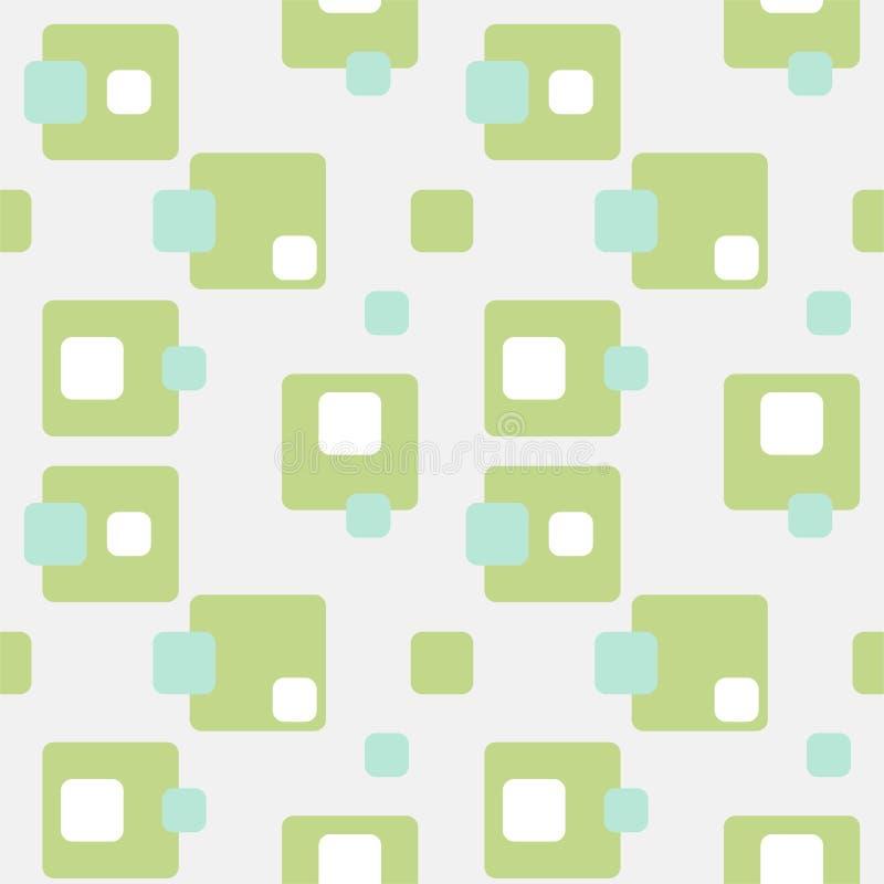 Teste padrão sem emenda retro liso do sumário com retângulos Ornamento simples intemporal do vetor ilustração do vetor