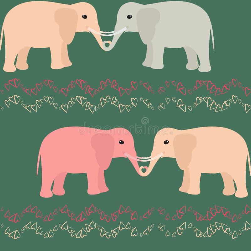 Download Teste Padrão Sem Emenda Com Elefantes E Corações Ilustração do Vetor - Ilustração de ornament, rosa: 29846118