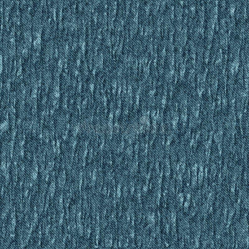 Teste padrão sem emenda sarja de Nimes azul amarrotada ilustração royalty free