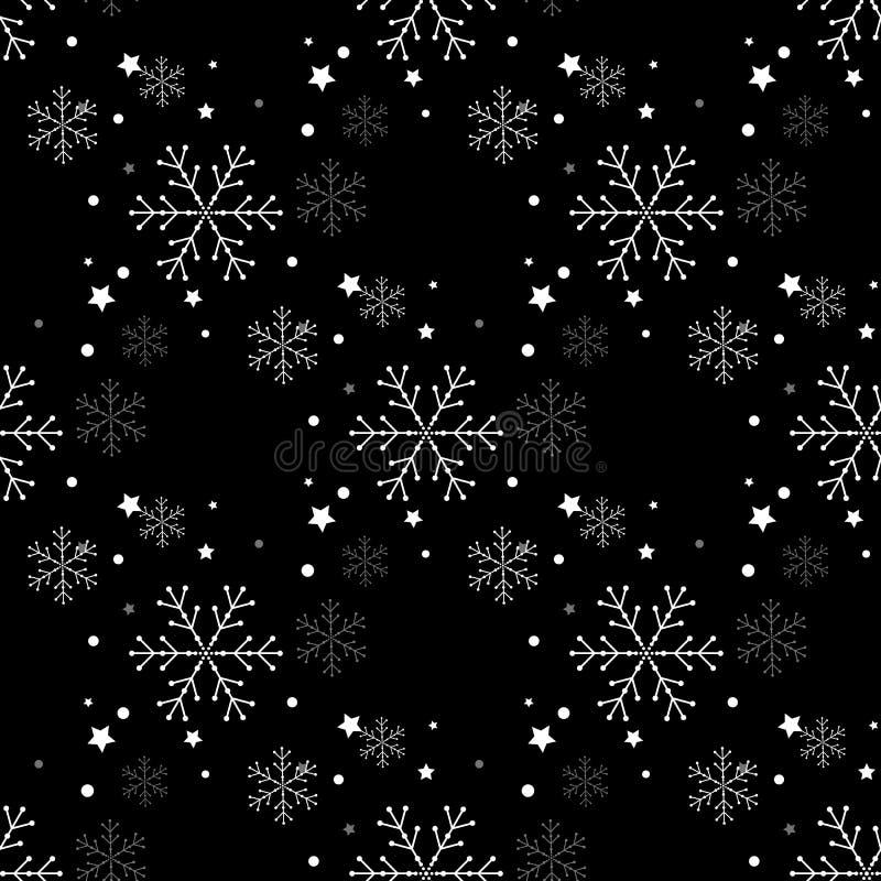Teste padrão sem emenda simples do floco de neve Papel de parede abstrato, envolvendo a decoração Símbolo do inverno, feriado do  ilustração do vetor