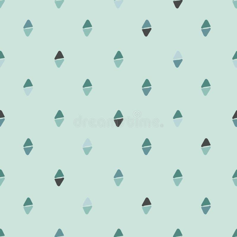 Teste padrão sem emenda simples Verde da cor pastel ilustração do vetor