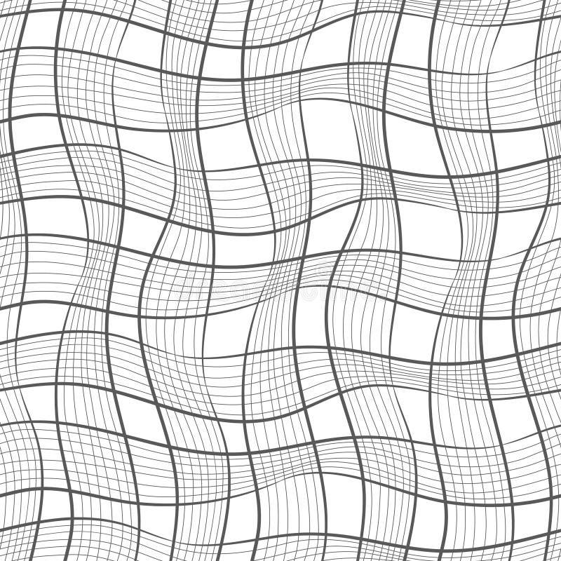 Teste padrão sem emenda Textura de listras diagonais onduladas pasteis Fundo abstrato à moda ilustração royalty free