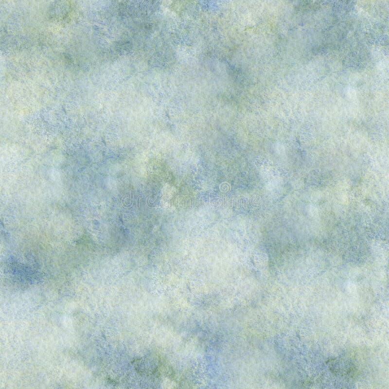 Teste padrão sem emenda textured azul da aquarela ilustração do vetor