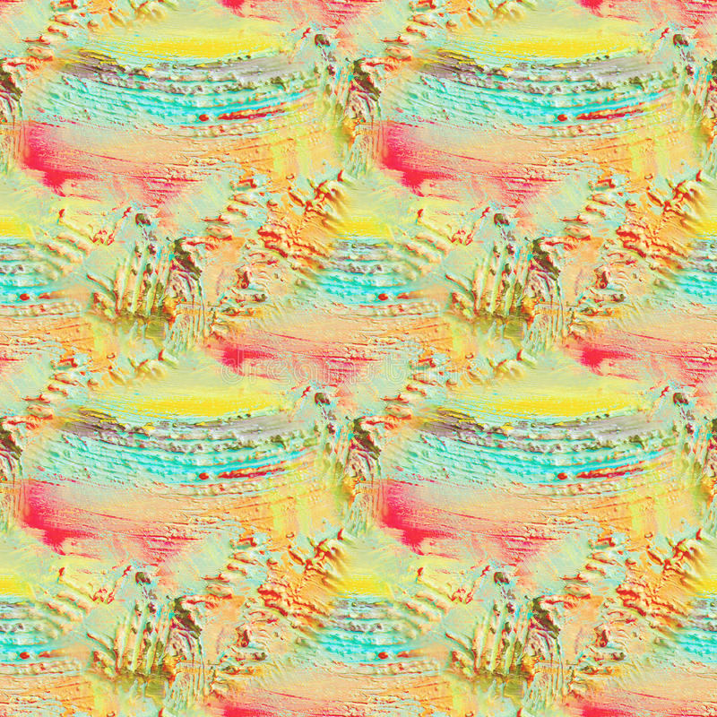 Teste padrão sem emenda textured sumário Pintura na lona Fundo da textura ilustração stock