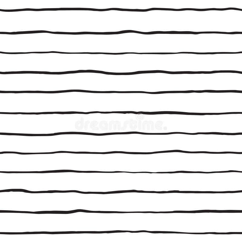 Teste padrão sem emenda tirado mão das listras da garatuja da escova ilustração do vetor