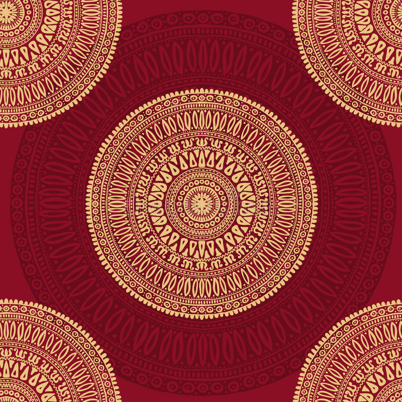 Teste padrão sem emenda tirado mão das mandalas ilustração royalty free