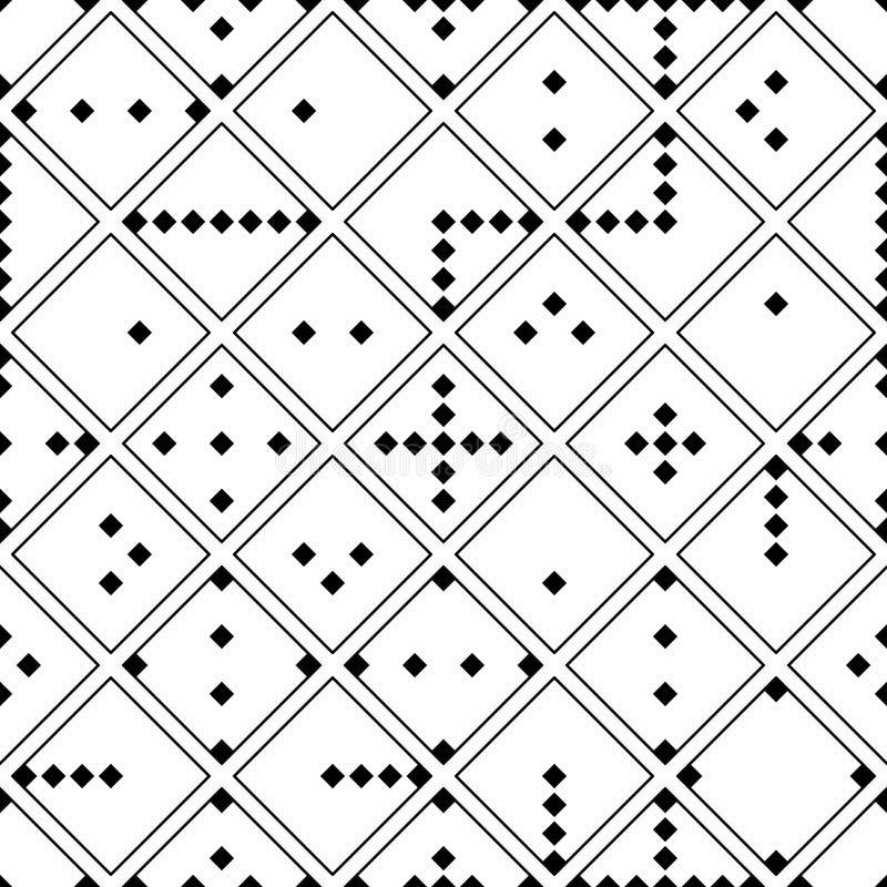 Teste padrão sem emenda trabalhador da sabedoria da forma do diamante ilustração royalty free