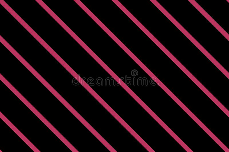 Teste padrão sem emenda tradicional com linhas inclinadas, diagonais, listras Preto e cor-de-rosa Ilustração do vetor ilustração do vetor