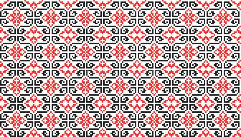 Teste padrão sem emenda tradicional romeno ilustração stock