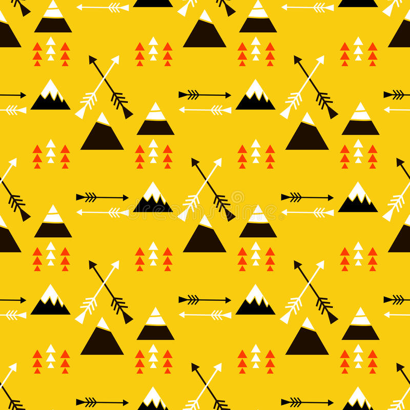Teste padrão sem emenda tribal ilustração royalty free