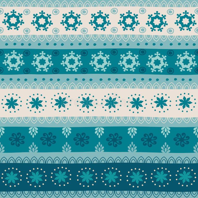 Teste padrão sem emenda tribal do Natal ilustração stock
