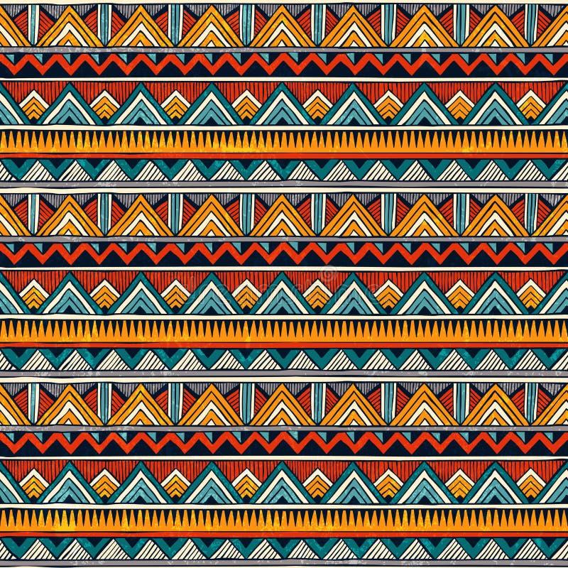 Teste padrão sem emenda tribal Fundo abstrato colorido do vetor ilustração do vetor