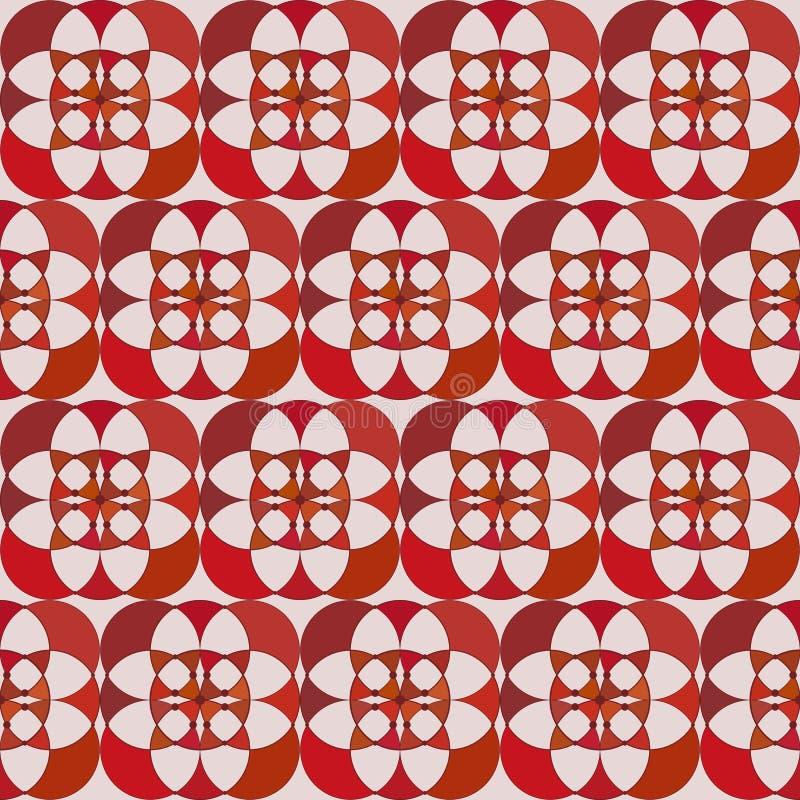 Teste padrão sem emenda - um mosaico de alternar circunda ilustração do vetor