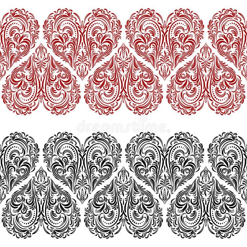 Teste padrão sem emenda, Valentine Hearts ilustração do vetor