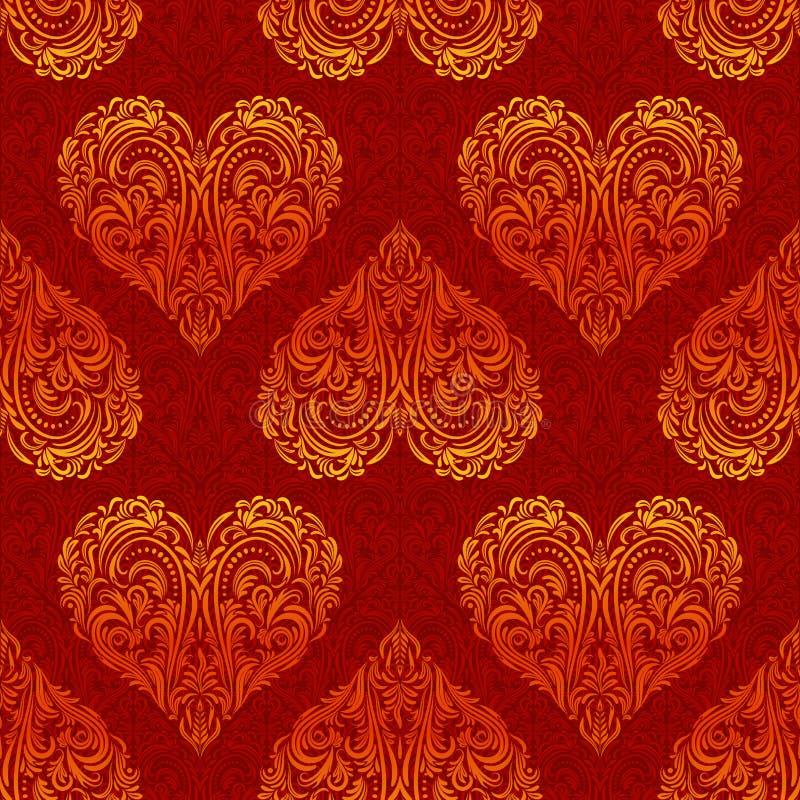 Teste padrão sem emenda, Valentine Hearts ilustração royalty free